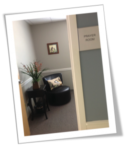 Our Prayer Room is a very special place for prayer and Journey To Freedom Bible study. It is a very quiet and peaceful place!
